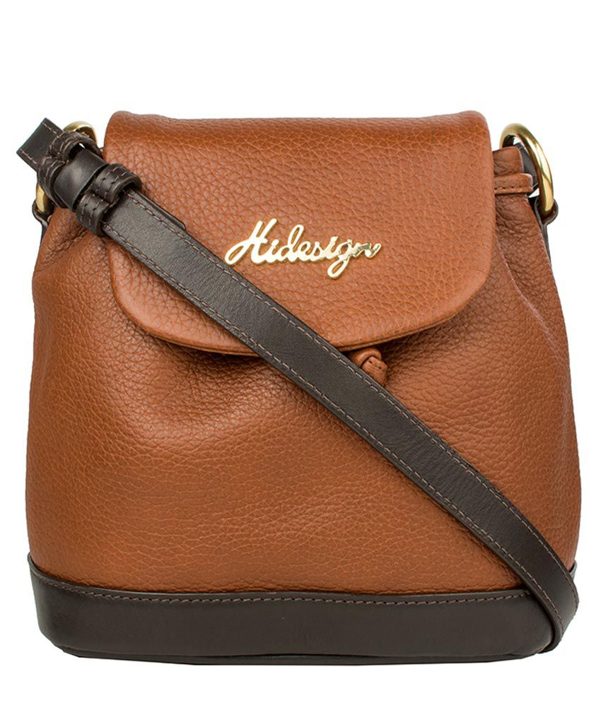 1f05ed94ef Hidesign Tan Pure Leather Sling Bag - Buy Hidesign Tan Pure Leather Sling  Bag Online at Best Prices in India on Snapdeal