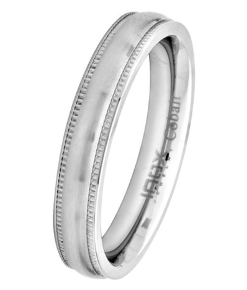 Inox Jewelry Silver Alloy Ring for Men