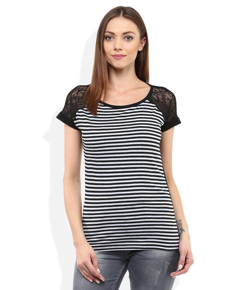 Lee Cooper Black Cap Sleeves Tops - Buy Lee Cooper Black Cap Sleeves Tops  Online at Best Prices in India on Snapdeal 7d2d23d23ca9