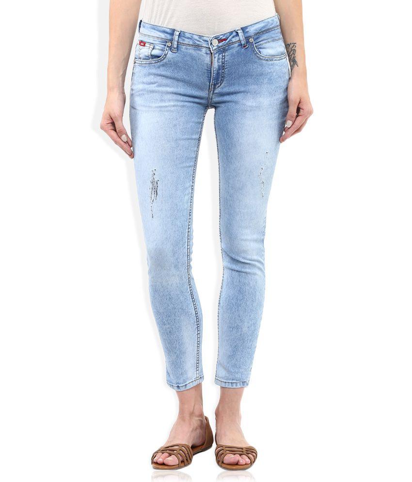 buy lee cooper blue slim fit faded jeans online at best