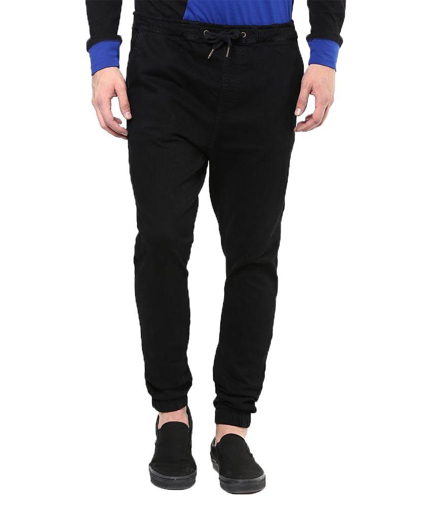 Hypernation Black Slim Fit Jogger Jeans