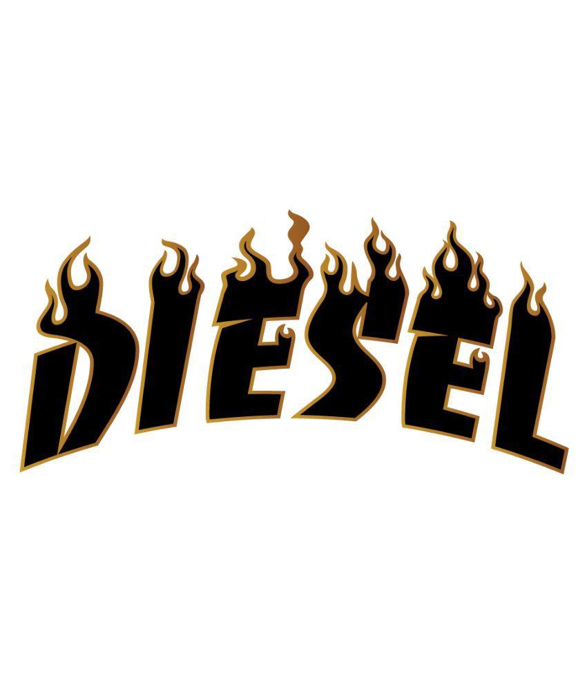 Car sticker design online india - Walldesign Black Diesel Car Sticker