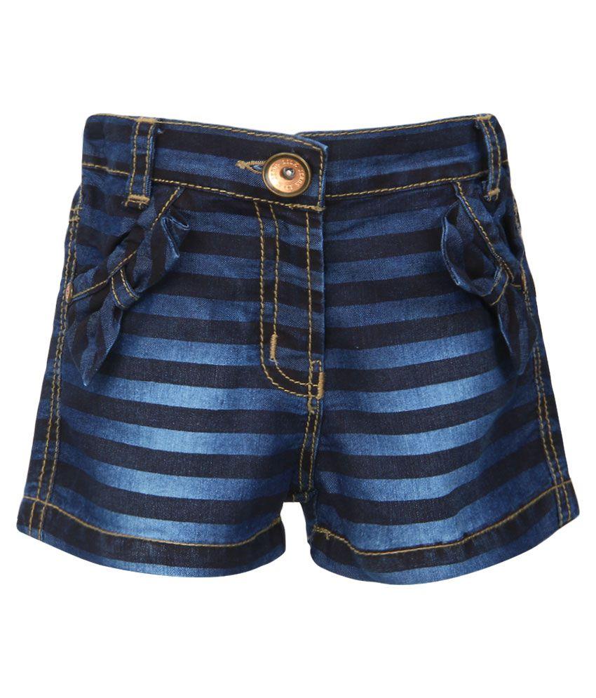 Little Kangaroos Blue Cotton Shorts