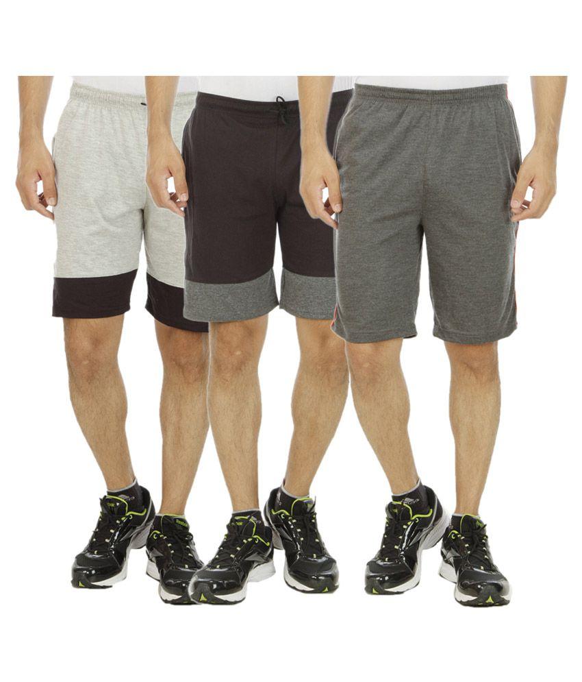 Kritika World Multi Shorts Pack of 3