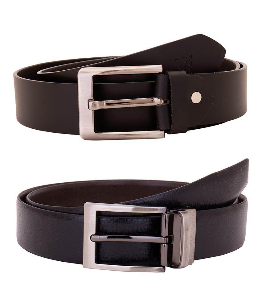 Valbone Multicolour Leather Belt - Set of 2