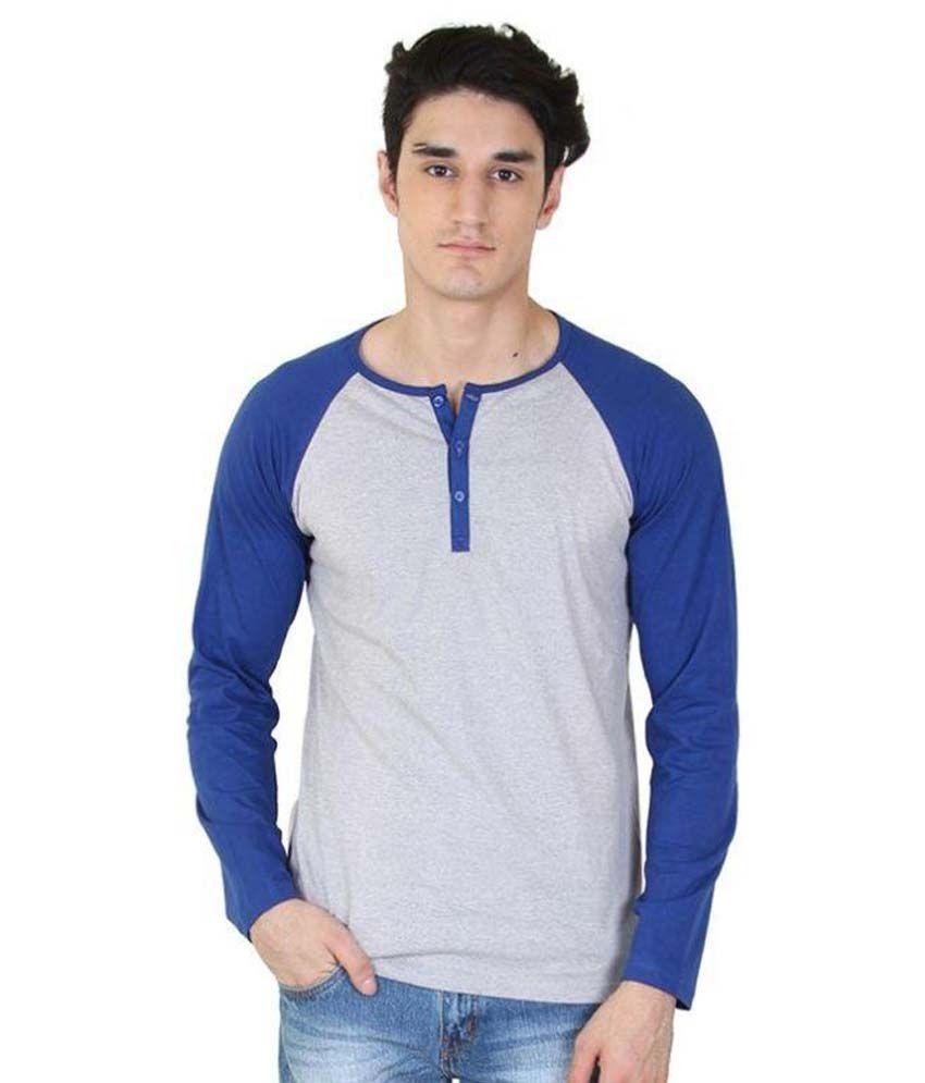 Fenoix Grey Henley T Shirt