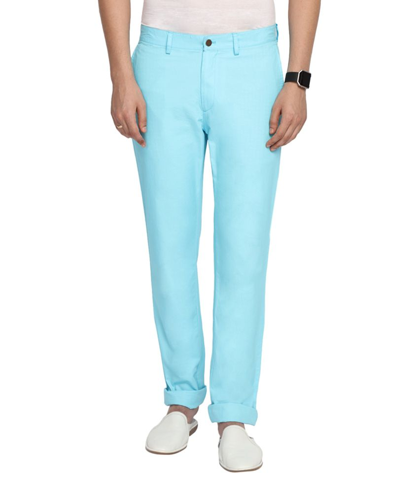 SUITLTD Sky Blue Slim Fit Twill Chino Pants