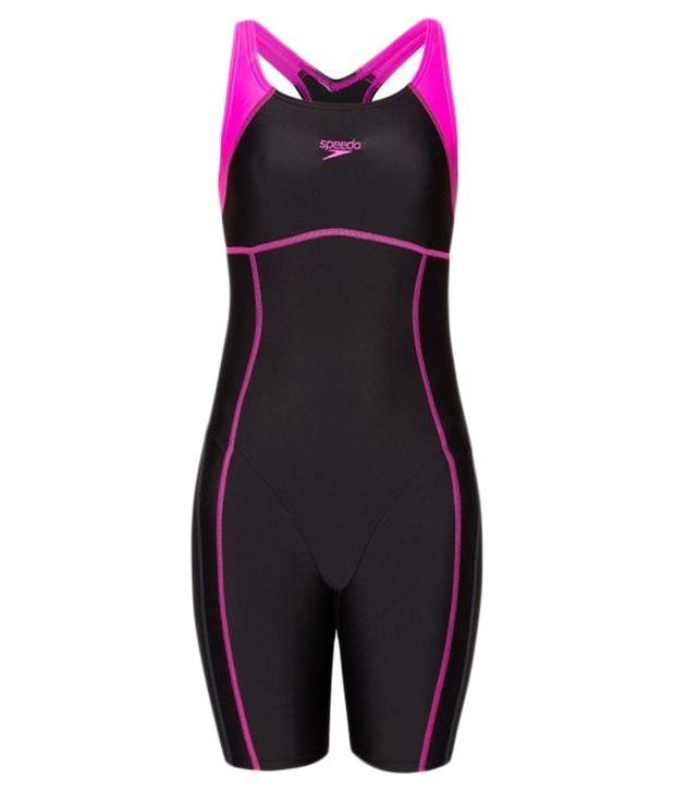 Speedo Black Essential Spliced Leg Suit
