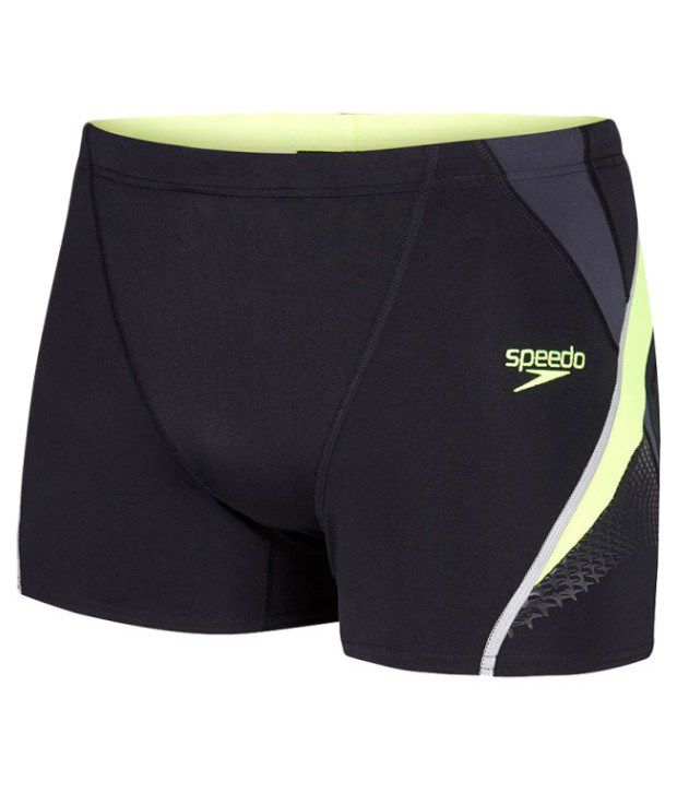 Speedo Black Fit Splice Men Aqua Shorts