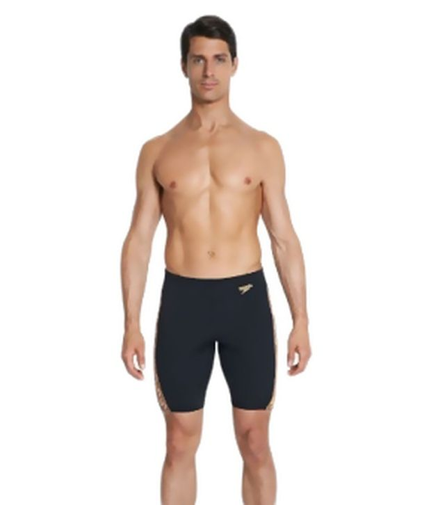 Speedo Black Monogram Jammer Swimwear/ Swimming Costume