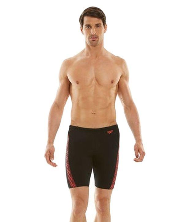 Speedo Black Monogram Jammer Swimwear/ Swimming Costume