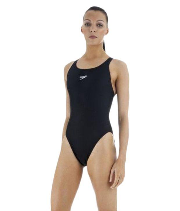 Speedo Black Racerback Swimsuit/ Swimming Costume