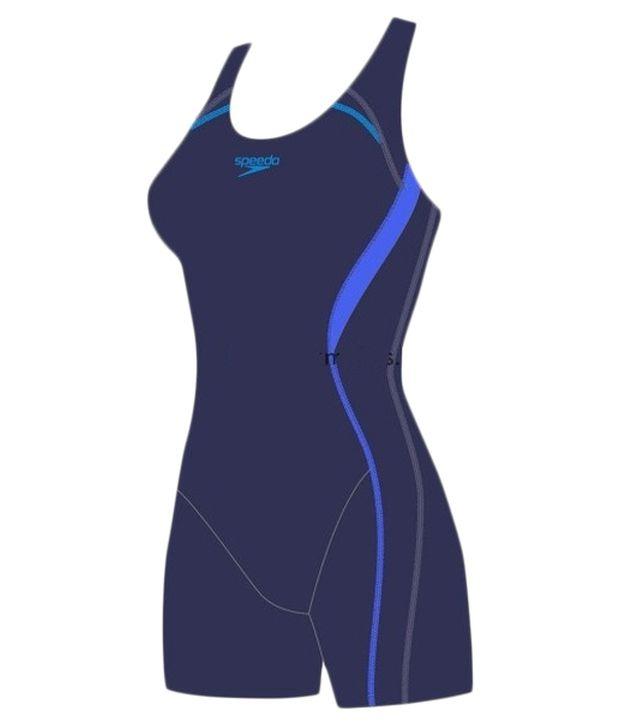 Speedo Blue Essential Pullback Swimsuit/ Swimming Costume
