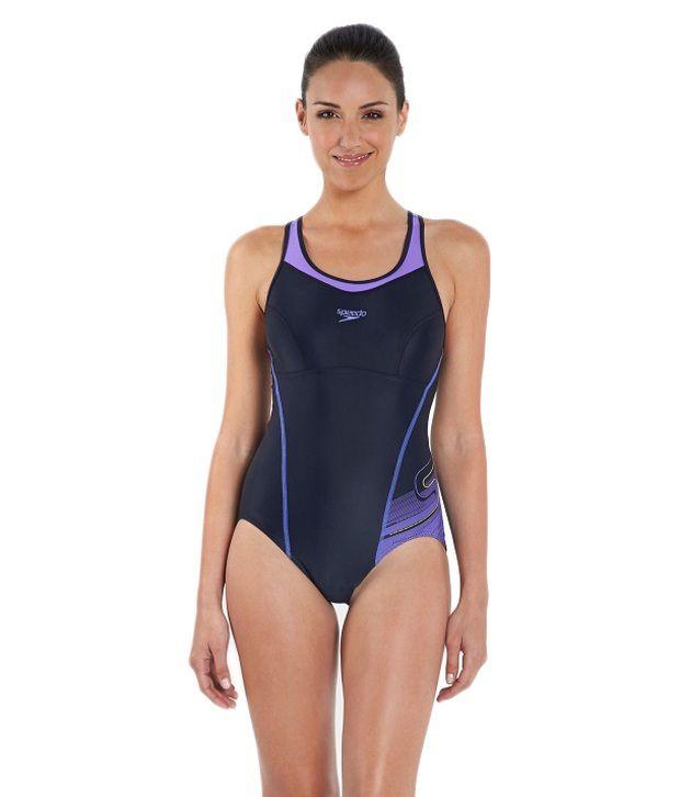 Speedo Navy Fit Racerback Womens Swimsuit/ Swimming Costume