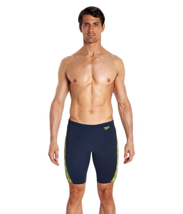 Speedo Navy Monogram Jammer Men Swimwear/ Swimming Costume