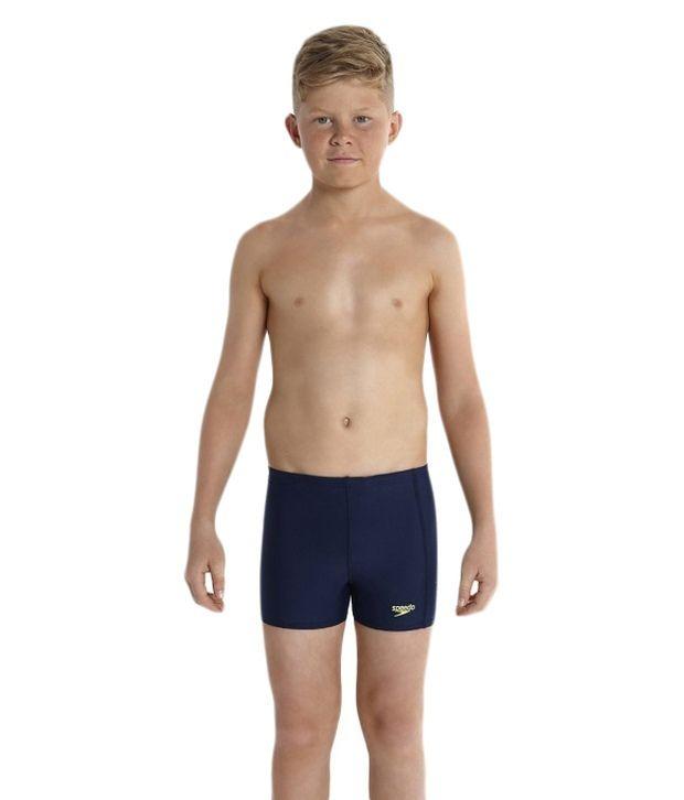 Speedo Navy Sports Logo Panel Aqua Shorts