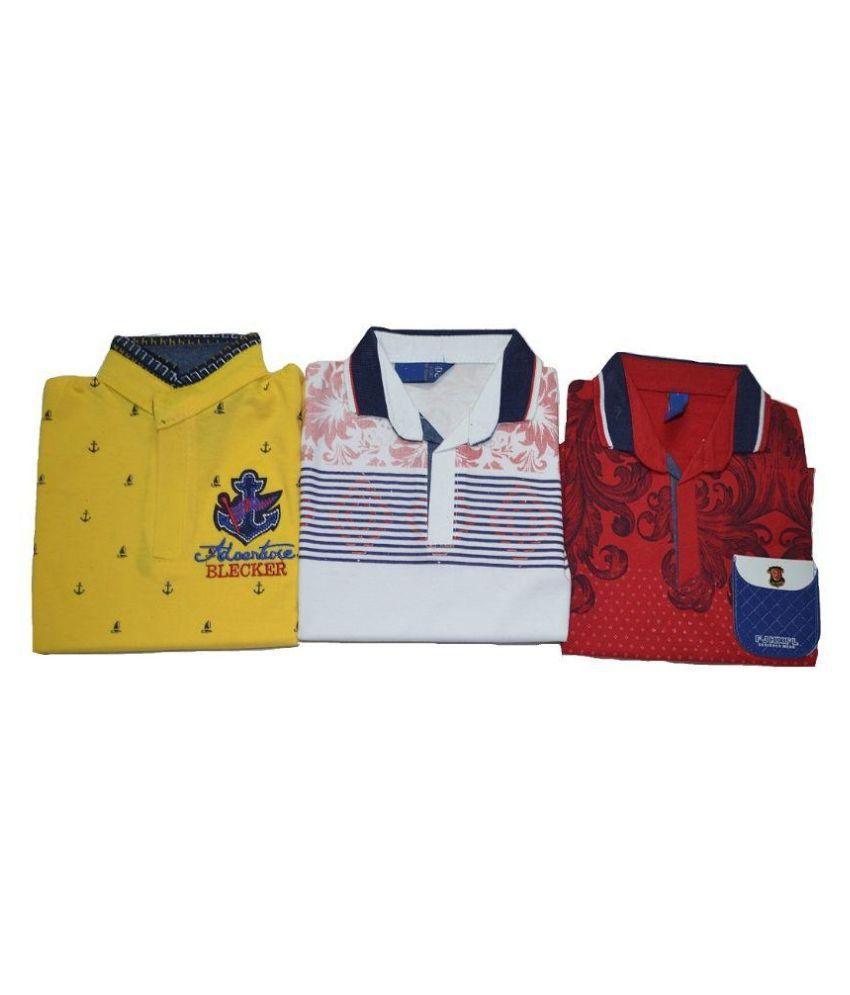 TS Multicolour T-Shirt - Set of 3