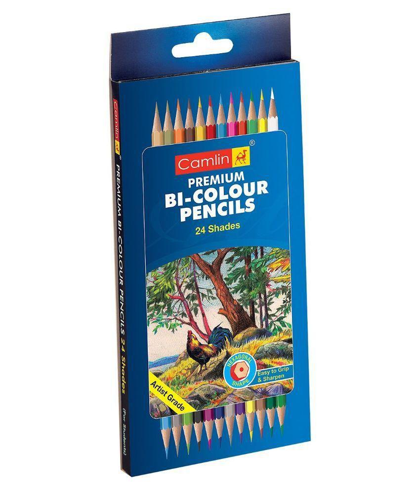 Camlin Premium Bi Color Pencil 24 Shades Buy Online At Best Price - Premium-color-pencils