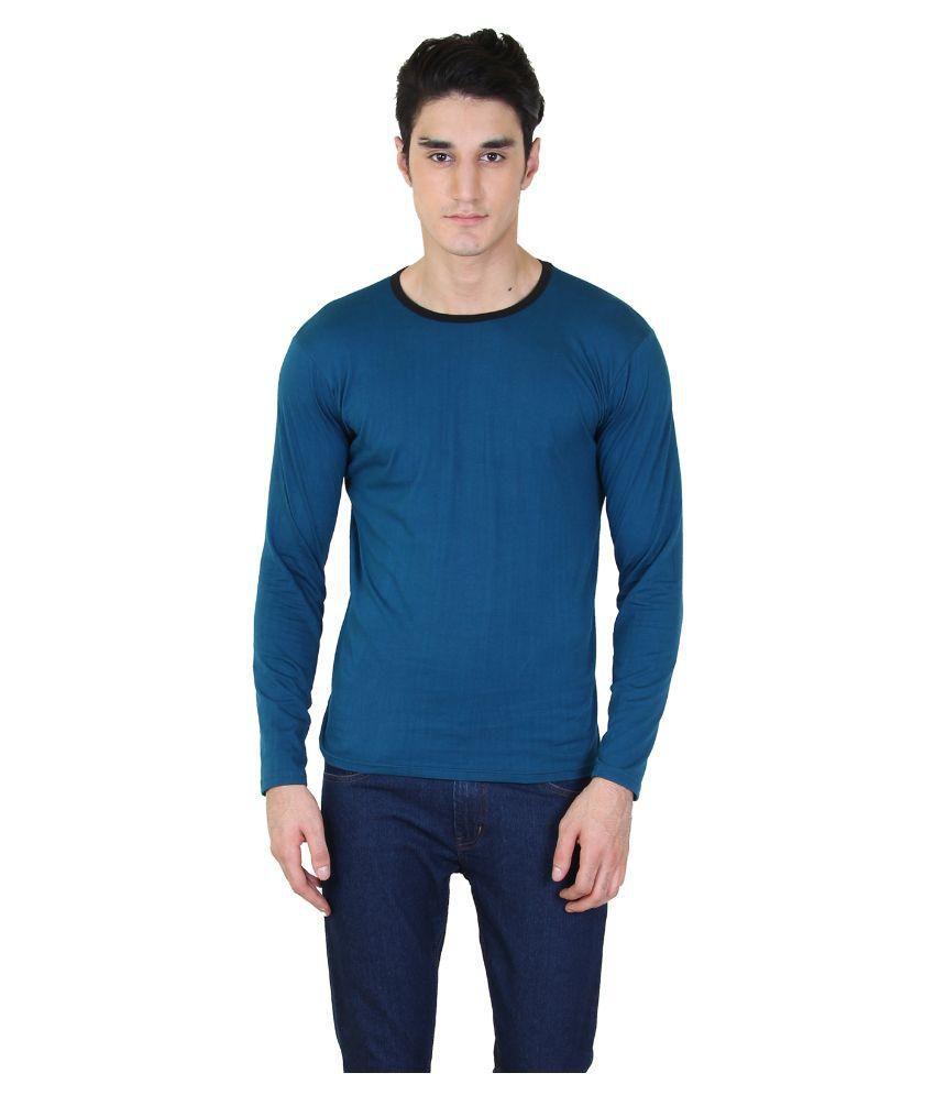 BI Fashion Blue Round T Shirt