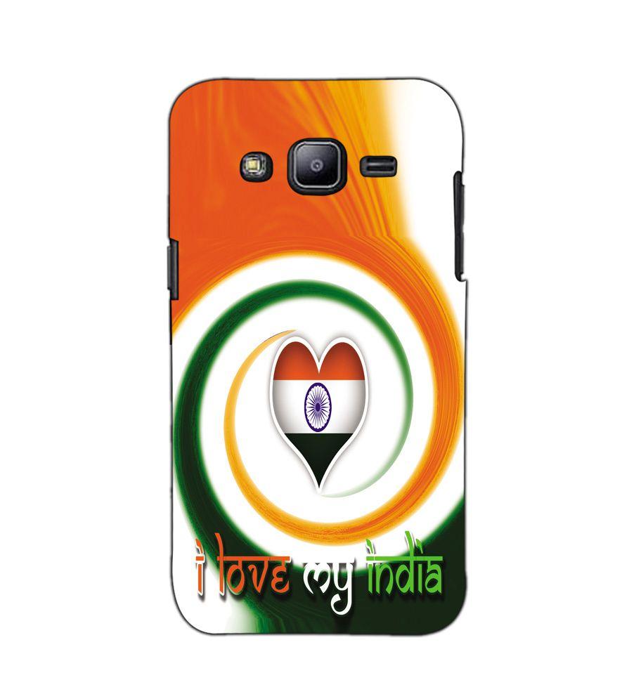 sale retailer 7d57a 657fd AKP Sublimation Premium I love my india flag theme Designer Back Case Cover  for Samsung Galaxy J2 -A-2347
