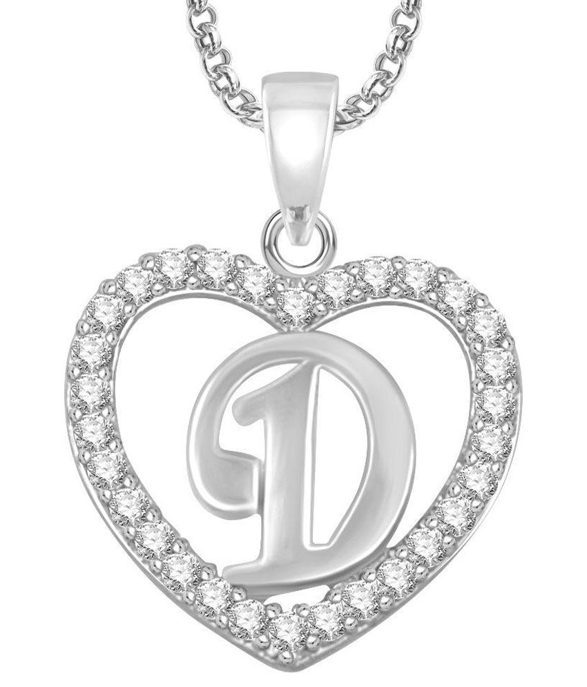 Meenaz gold plated d letter pendant locket alphabet heart with meenaz gold plated d letter pendant locket alphabet heart with chain for men and women mozeypictures Images