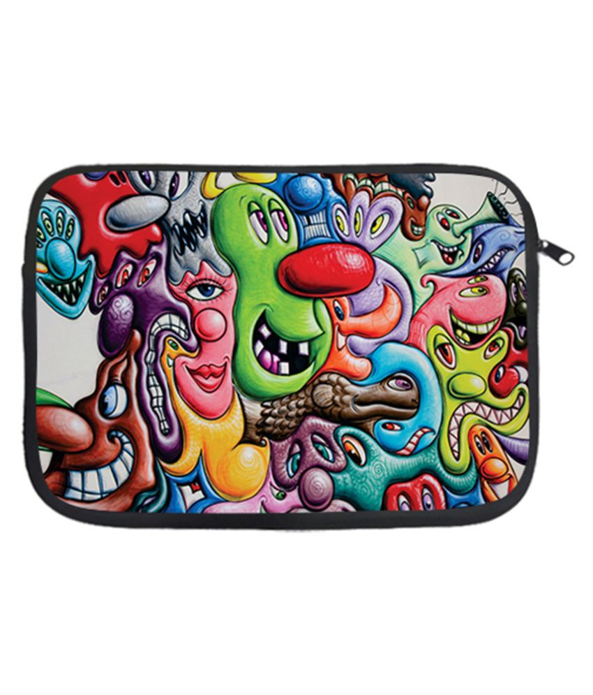 Design Worlds Multi Color Polyester Laptop Sleeve