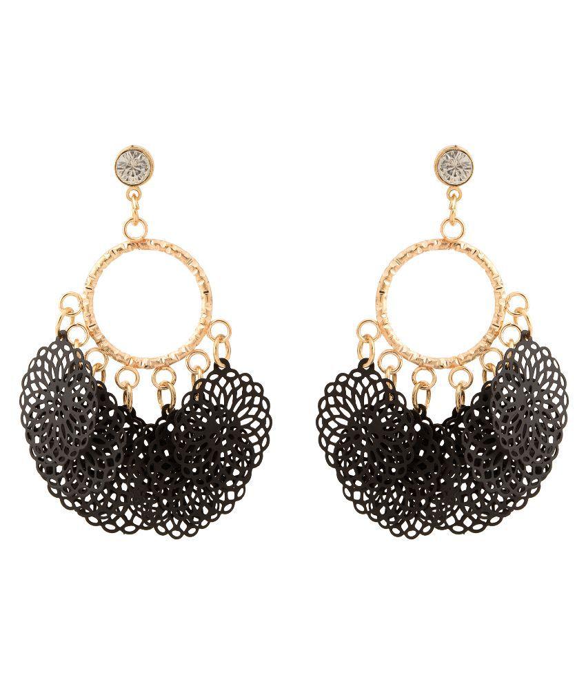 Gioiabazaar Black Drop Earrings