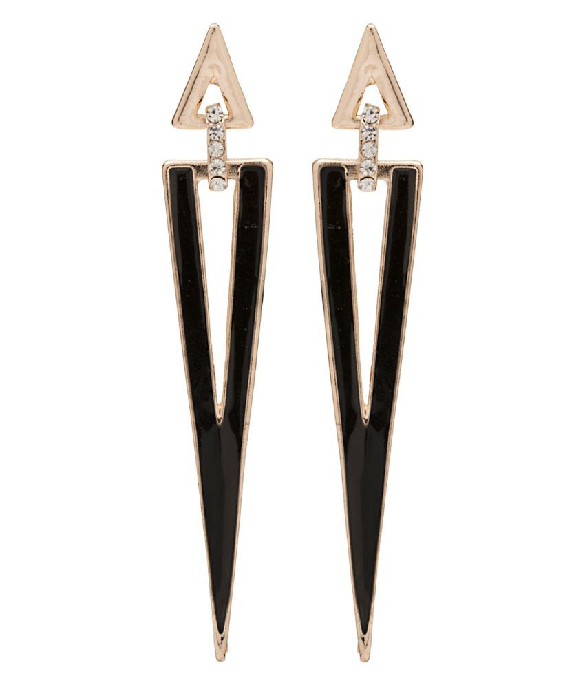 Gioiabazaar Black Hanging Earrings