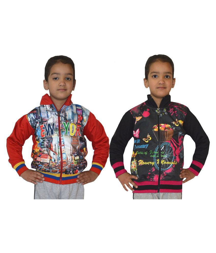 Shaun Multicolour Woolen Sweatshirt - Pack of 2