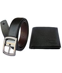 Discover Fashion PU leather Belt And Wallet Combo Of 2