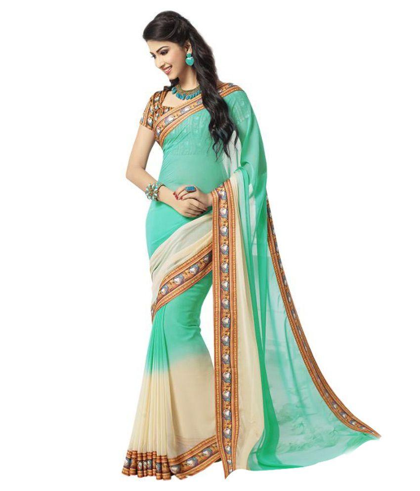 e90dea695c2 Vipul Saree Multicoloured Georgette Saree - Buy Vipul Saree Multicoloured  Georgette Saree Online at Low Price - Snapdeal.com