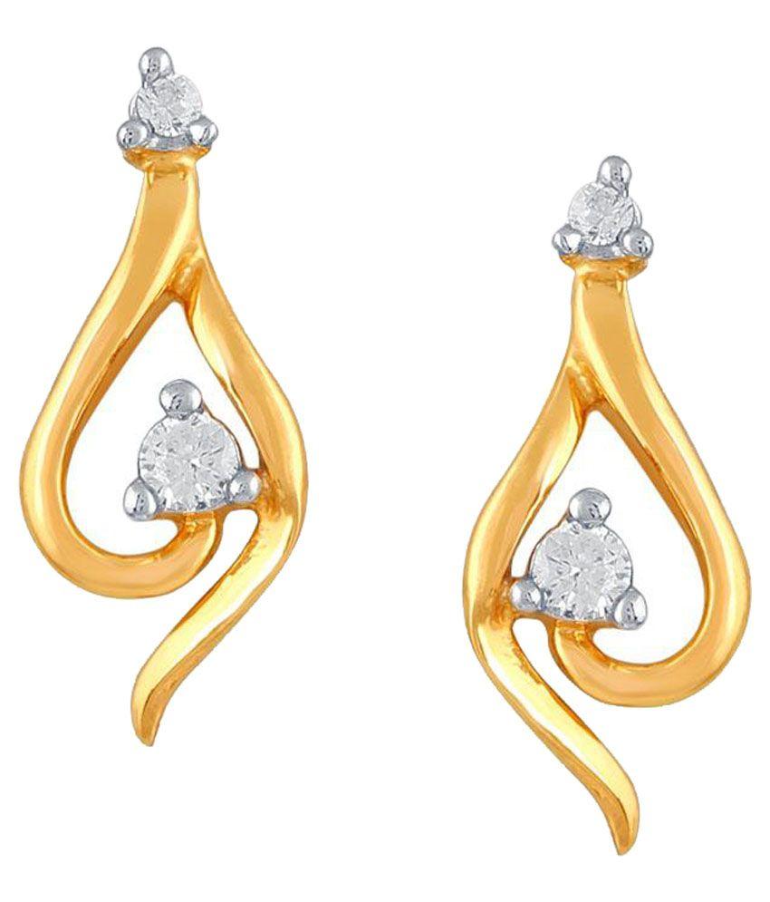 Asmi 18kt BIS Hallmarked Yellow Gold Diamond Studs