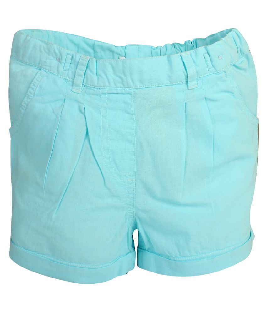 Apricot Kids Blue Cotton Shorts for Girls