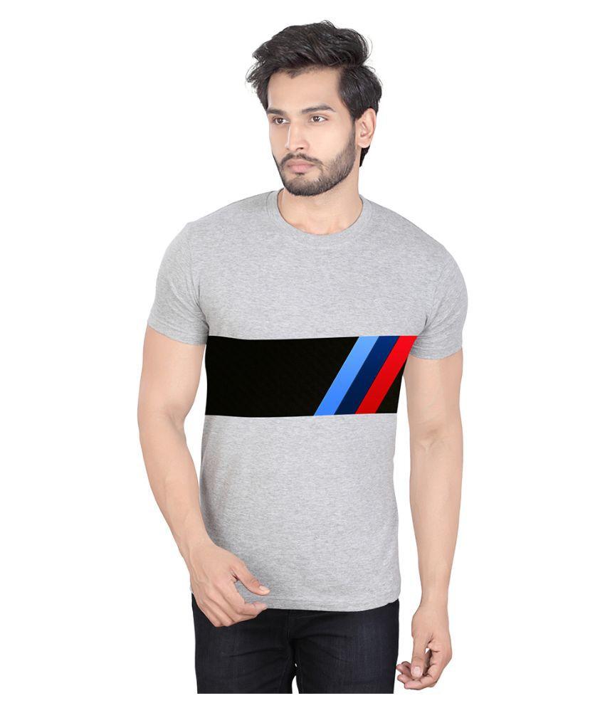 LUCfashion Grey Round T Shirt