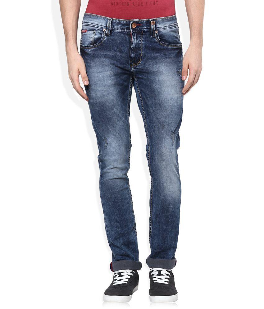 lee cooper blue slim fit jeans buy lee cooper blue slim