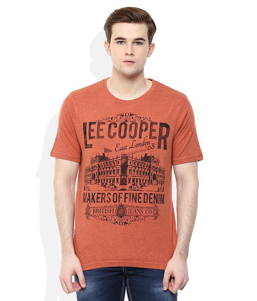 Lee Cooper Rust Printed Regular Fit T-Shirt