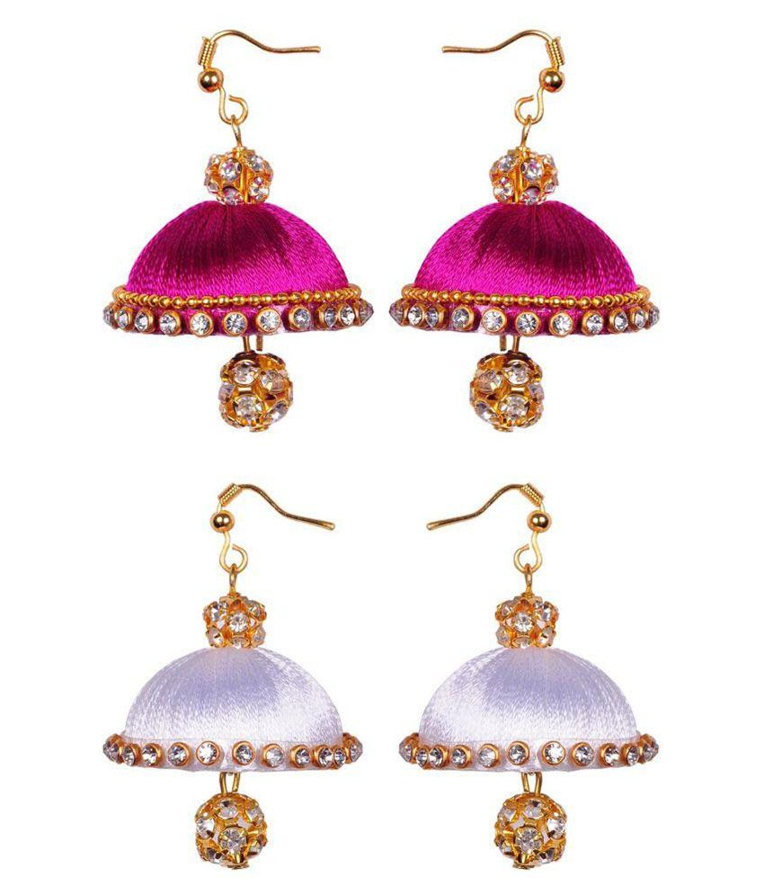 RK City Shopping Multicolor Earrings Combo - Pack of 2 Pair