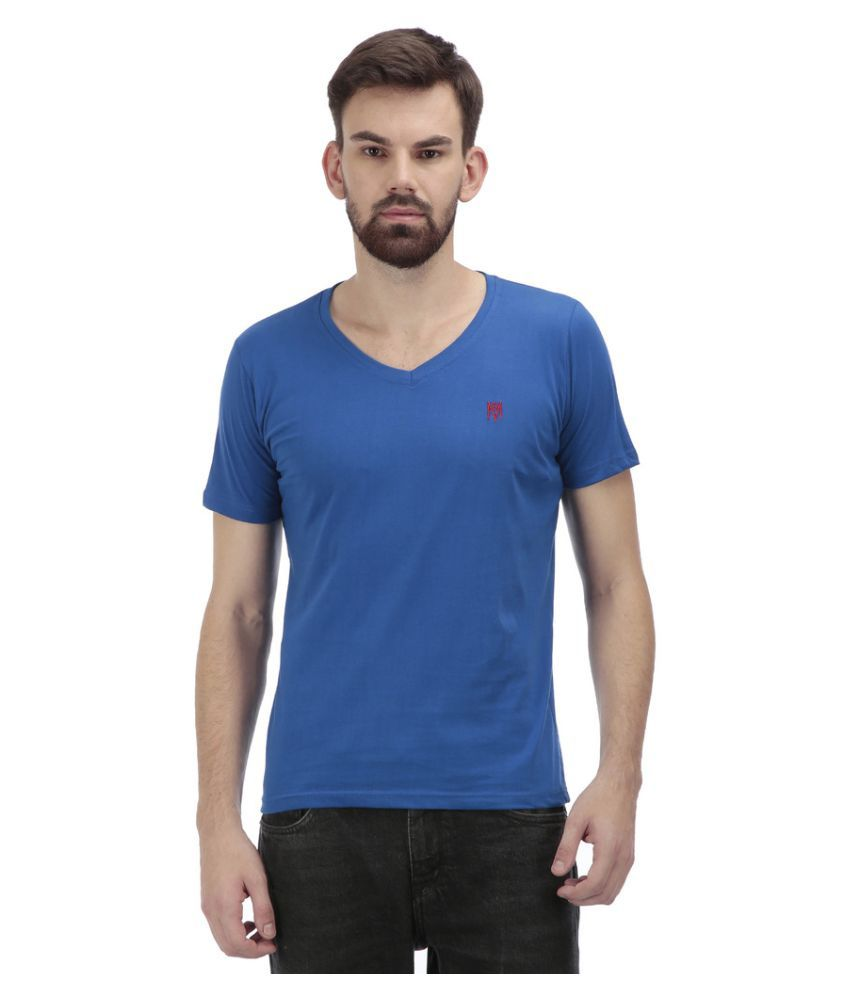 Sir Michele Blue V-Neck T Shirt