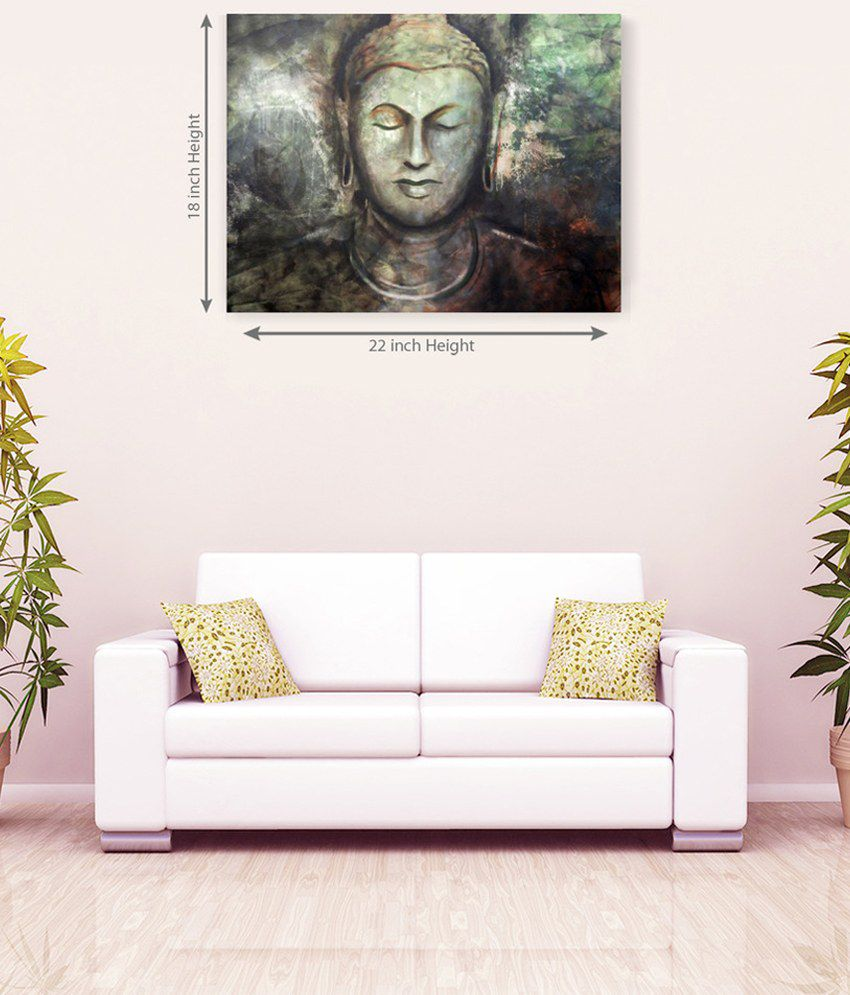 Sky Trends Lord Buddha Attrative Canvas Painting