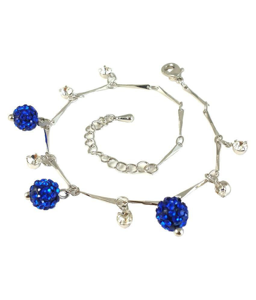 Ammvi Creations Silver Single Anklet