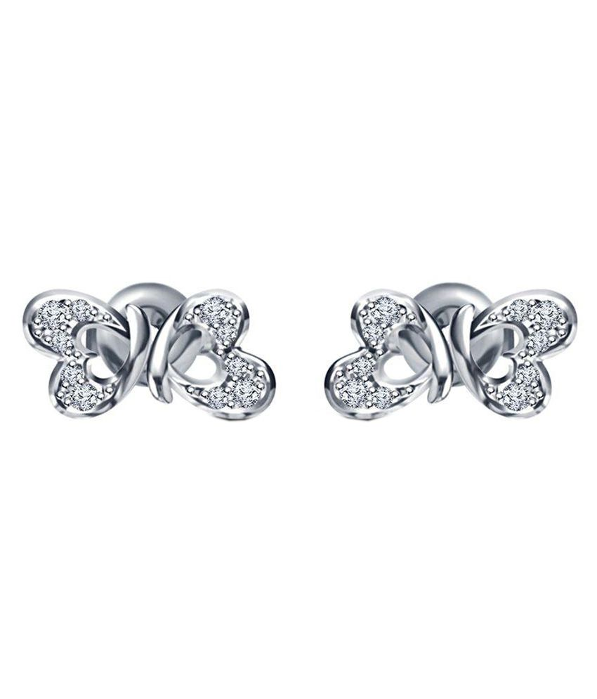 Nysha Collection 92.5 Silver Cubic zirconia Studs