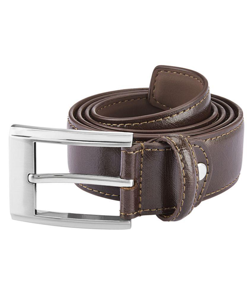 Park Avenue Brown Leather Belt for Men