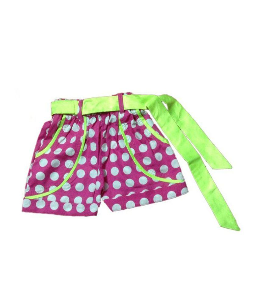 Vestiscraft Pink Shorts For Girls