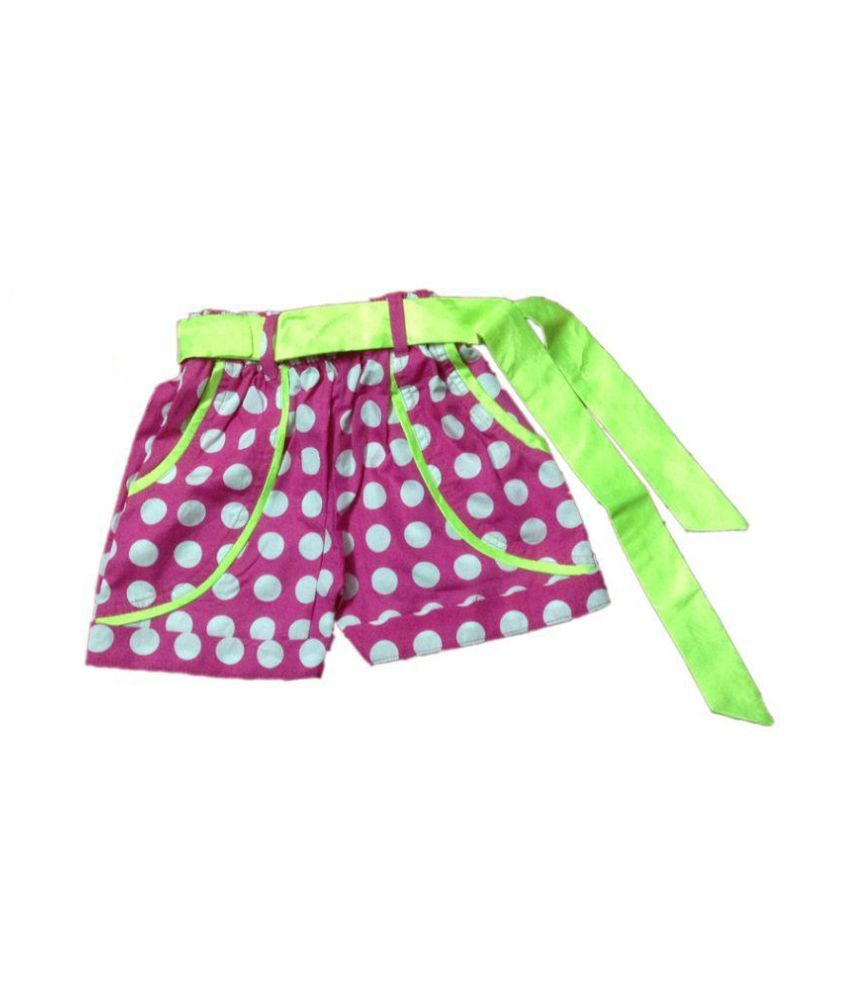 Vestiscraft Pink Shorts For Girls