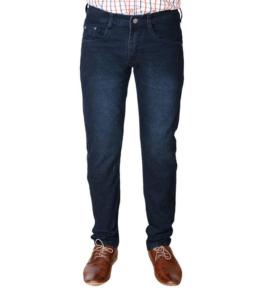 Flyjohn Blue Cotton Jeans
