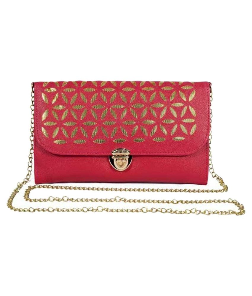 Fresh Fashion Pink Faux Leather Sling Bag