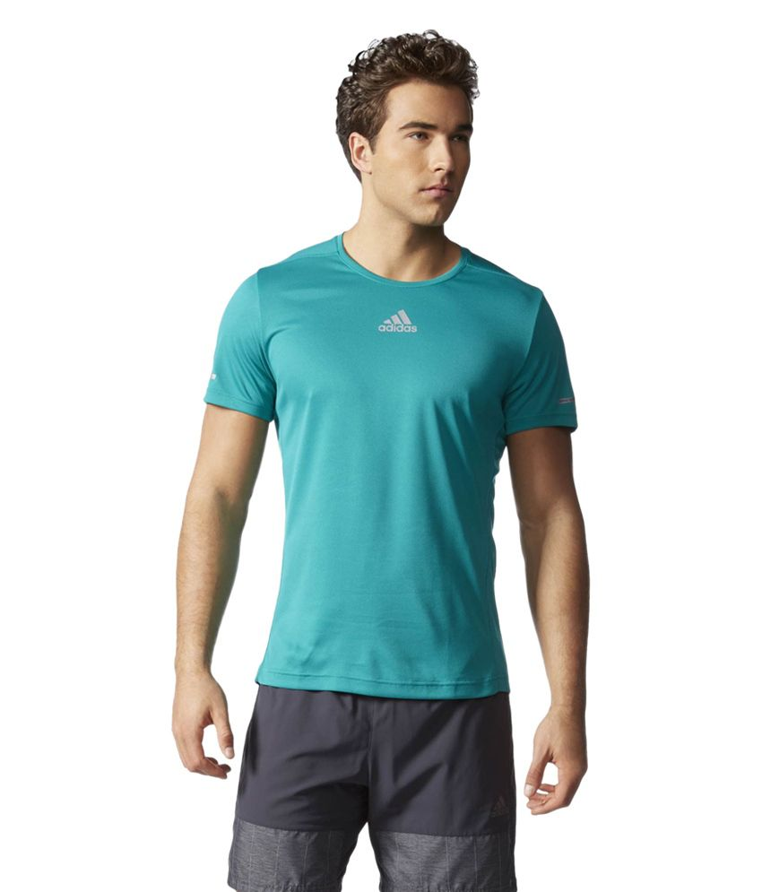 Adidas Green Sequencials Climalite Running Tee