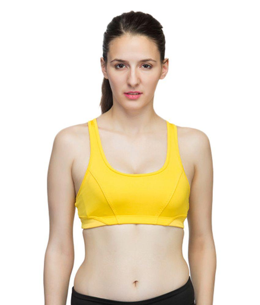Adidas Yellow Women Tennis Bra