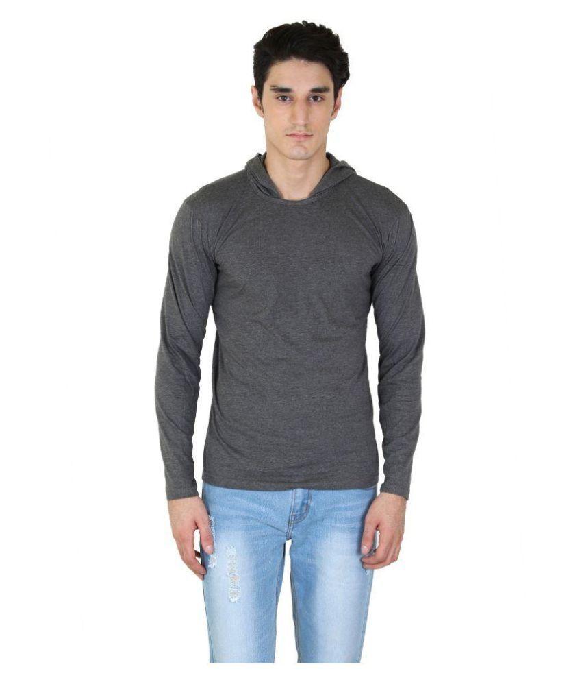 Fenoix Grey Hooded T Shirt