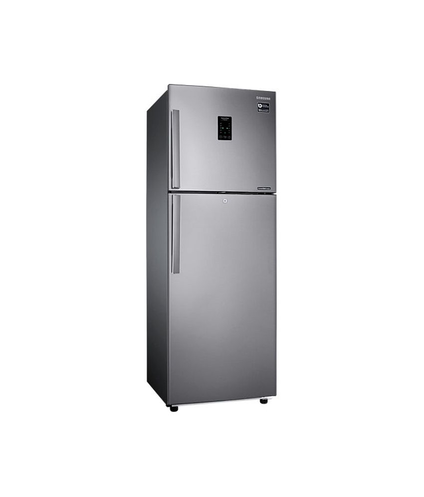 Samsung 318 Ltr 3 Star RT34K3983SL Double Door Refrigerator - Easy Clean Steel